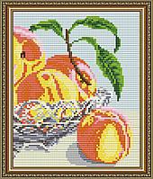 """Алмазна мозаїка """"В кришталі персики.Диптих2"""""""