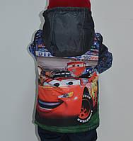 """Демисезонная куртка для мальчика с принтом """"Тачки 2"""", р 104"""