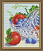 "Алмазна мозаїка ""В кришталі виноград з яблуками. Диптих1"""