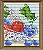 """Алмазная мозаика """"В хрустале виноград с яблоками. Диптих2"""""""