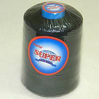 Нитки армированные черные 20/2 4000ярдов Super