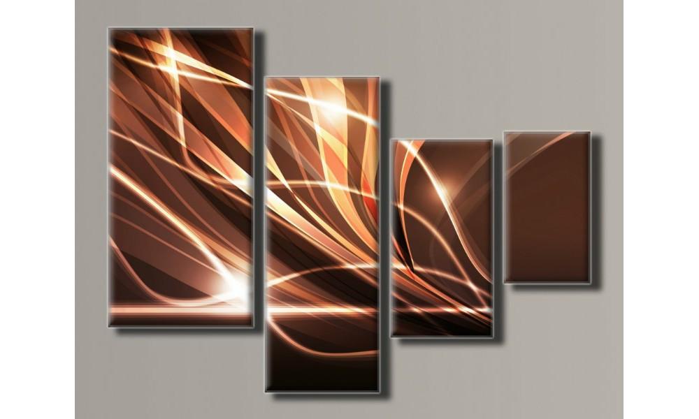 "Модульная картина на холсте ""Бежевая абстракция 2"""