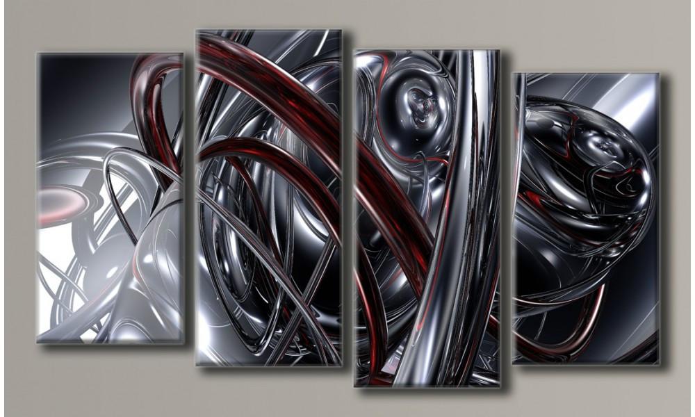 "Модульная картина на холсте ""Абстракция сталь"""