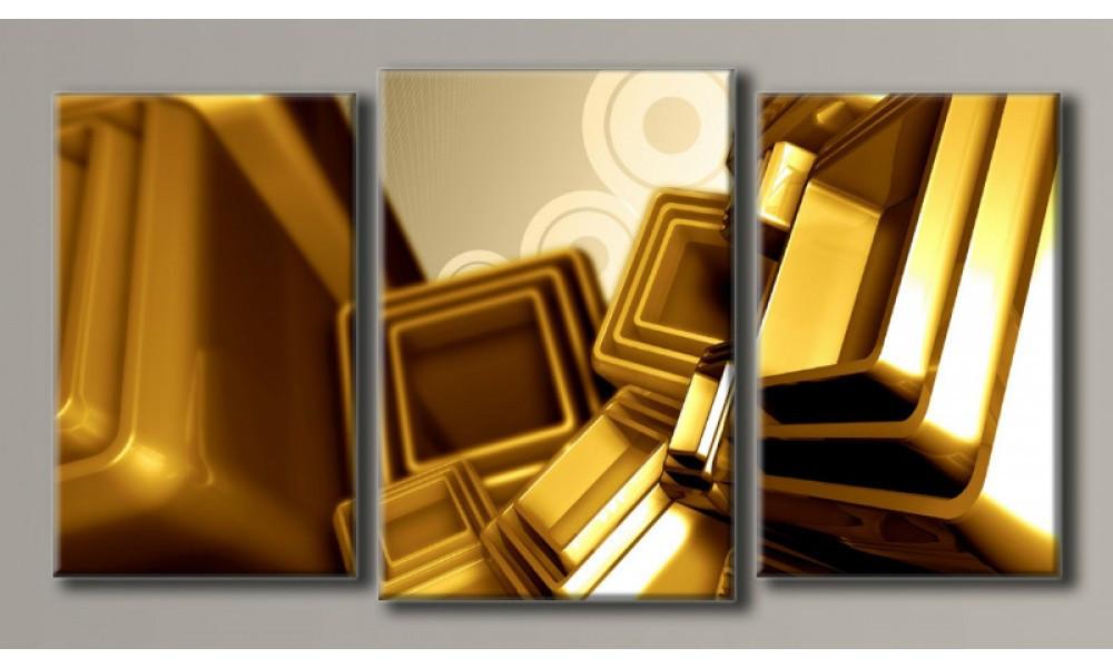 """Модульна картина на полотні """"Золота абстракція"""""""