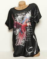 Женская футболка с рисунком в камнях, батал, большие размеры