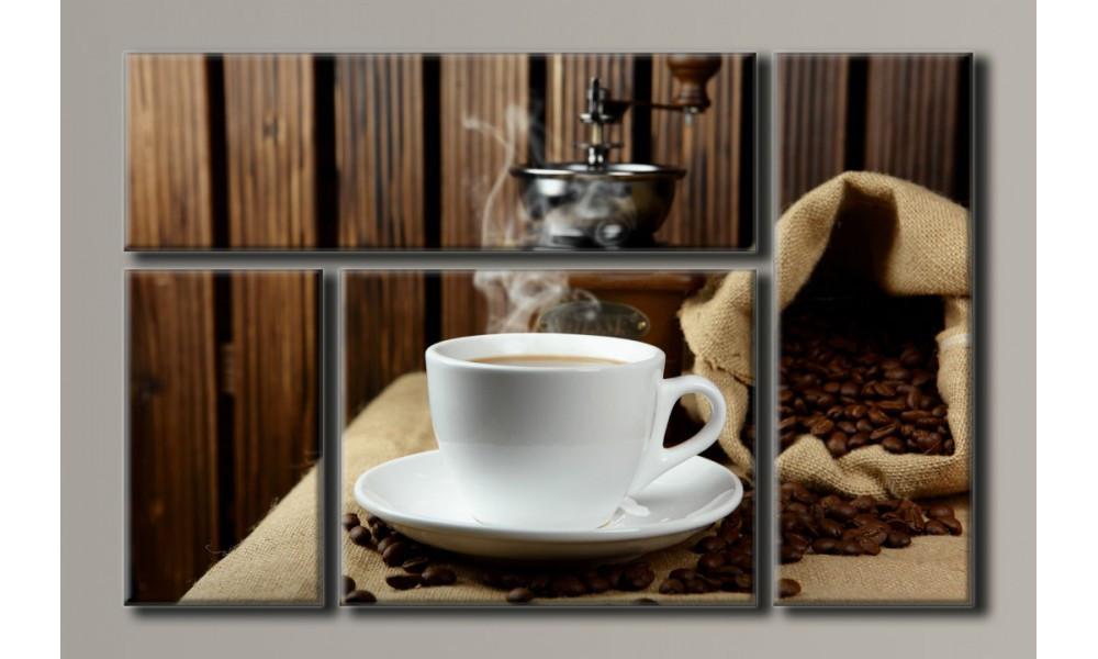 "Модульна картина на полотні ""Чашка кави"""
