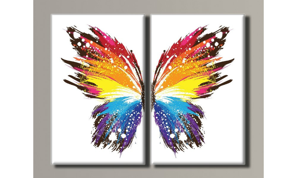 "Модульная картина на холсте ""Бабочка"""