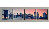 """Модульная картина на холсте """"New York City 11"""" для интерьера"""