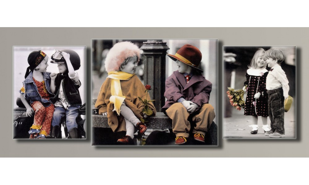 """Модульная картина на холсте """"Дети от Kim Anderson"""" для интерьера"""