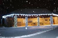 Новогоднее оформление ресторана, магазина, елки, фасада