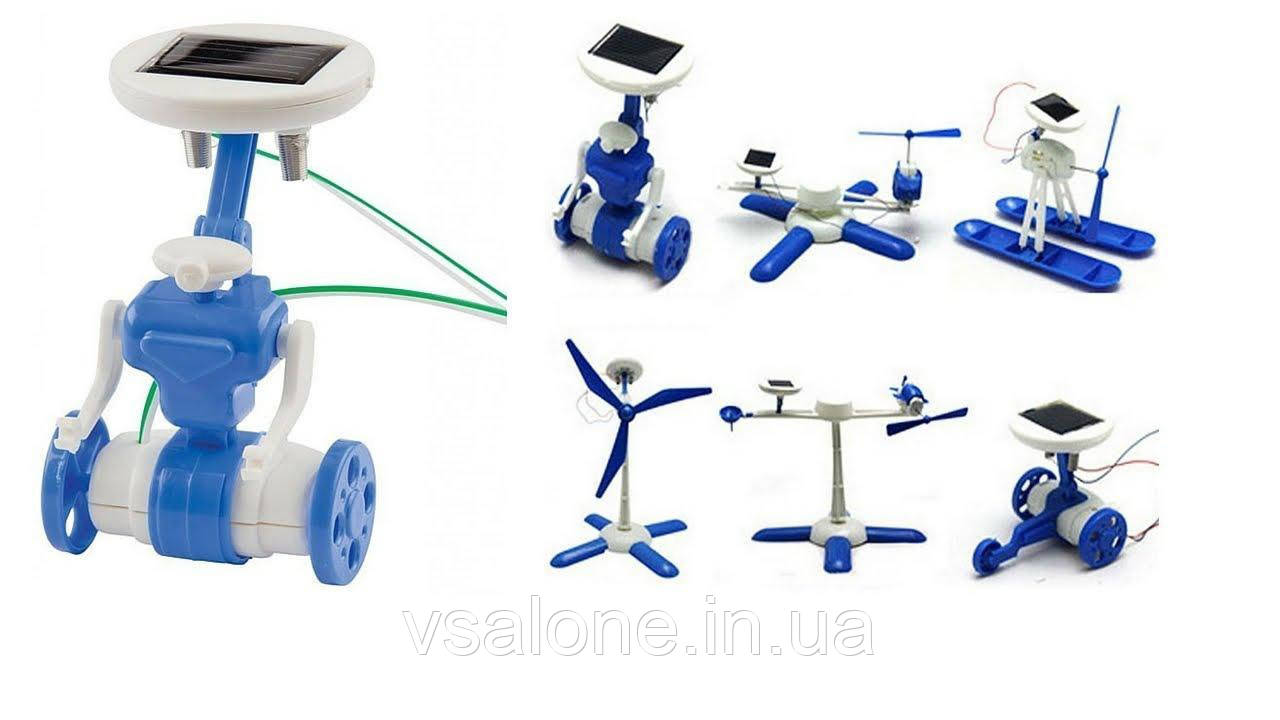 Конструктор на сонячних батареях Робот 6 в 1