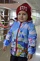 """Демисезонная куртка для мальчика с принтом """"Робокар Поли"""", р 104"""