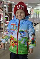 """Демисезонная куртка для мальчика с принтом """"Щенячий патруль 2"""", р 110, 116"""