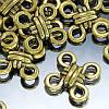 Коннектор Ромб Металл, 4 отверстия, Цвет: Античное Золото, Размер: 10х10х3мм, Отверстие 2мм, (УТ000001041)