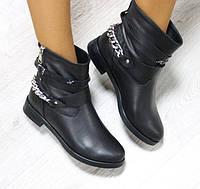 Женские зимние кожаные ботинки, фото 1