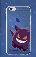 """Силиконовый чехол """"Funny Pokemons"""" для Apple iPhone 5/5S/SE Gengar"""