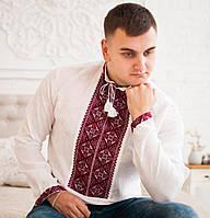 Вишита сорочка (білий льон)