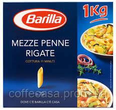 Макароны Barilla Mezze Penne Rigate 1кг картон