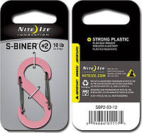 Карабин пластиковый Nite Ize S-Biner Plastic Size 2 розовый