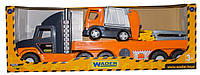 Машина Гигант Тягач Super Tech Truck с мусоровозом Вадер 36730