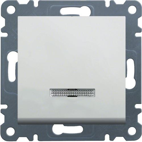 Вимикач 1-кл. з підсвічуванням Hager Lumina Білий
