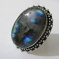 "Кольцо ""Восточная бахрома"" с ярким лабрадором, размер 18 от студии LadyStyle.Biz, фото 1"
