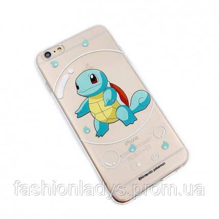 """Прозрачный силиконовый чехол """"Pokemon Go"""" для Apple iPhone 5/5S/SE Squirtle / bubble"""