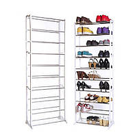 Полка для обуви Amazing Shoe Rack, 9 этажей 30 пар.