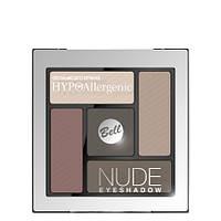 Тени для век атласно-кремовые Bell Hypo Allergenic Nude Eyeshadow № 01