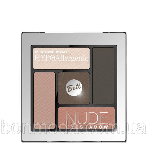 Тени для век атласно-кремовые Bell Hypo Allergenic Nude Eyeshadow № 03