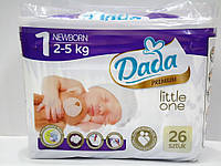 Подгузники Dada Little One Newborn 1 (2-5кг), 26шт.