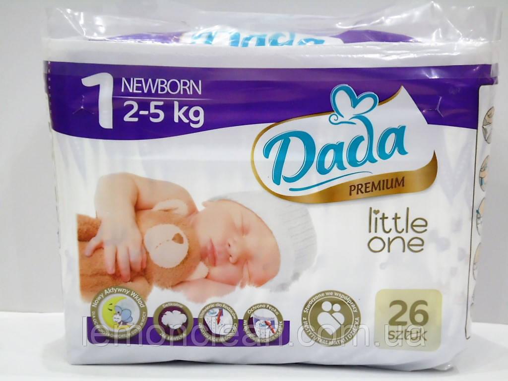 Подгузники Dada Little One Newborn 1 (2-5кг), 26шт.