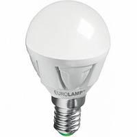 Лампа LED Eurolamp G45 5 Вт E14 3000K теплый свет