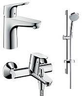 Набор смесителей для ванны 3 в 1 Hansgrohe Focus 31940111 хром