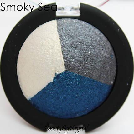 Запеченные тени elf Studio Baked Eyeshadow Trio - Smoky Sea, фото 2