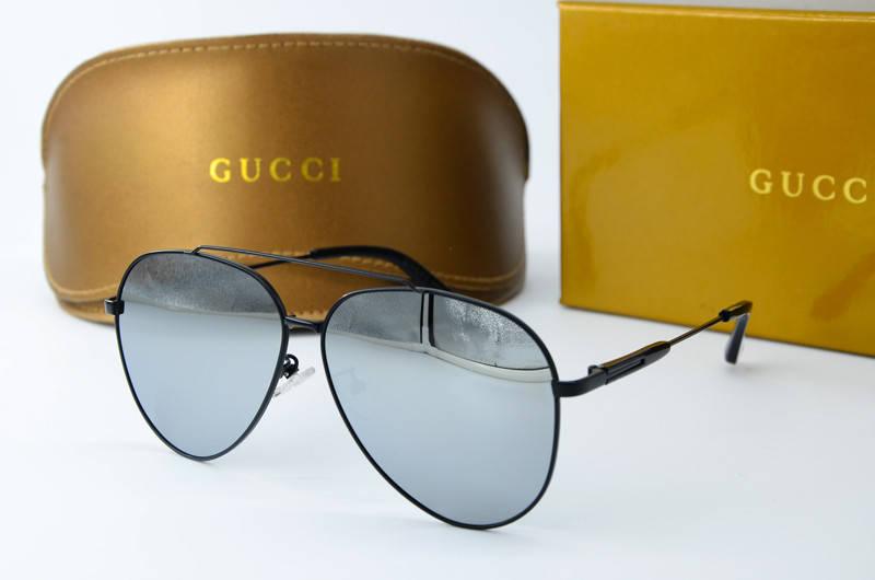 7d7141b59d6a Мужские солнцезащитные зеркальные очки Авиатор Gucci 0184 с01