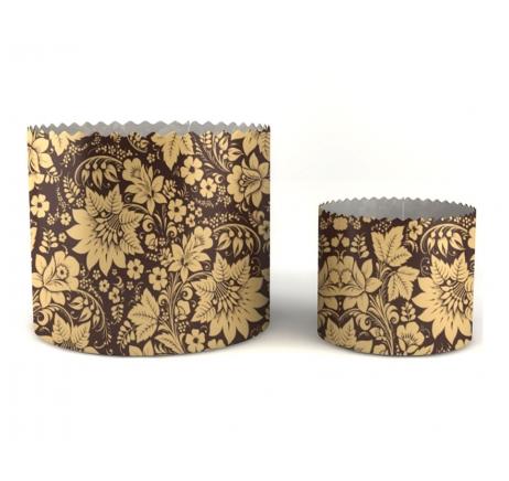 Пасхальні паперові форми Квіти на коричневому фоні Ecopack