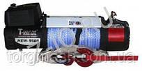 Лебедка автомобильная электрическая T-MAX HEW-9500 X Power с синтетическим тросом
