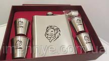 Фляга для алкоголя на подарок оригинальный набор с лазерной гравировкой стопок