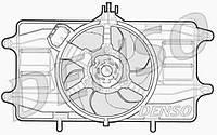 Вентилятор радiатора Fiat Doblo 1,2 (2000-2005) з кондицiонером