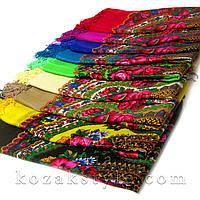 Українська хустка з люрексом 125х125 (різні кольори), фото 1