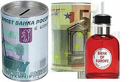 """Туалетная вода мужская """"50 Евро"""" ADF Money Bank of Europe. Подарочная упаковка в виде копилки."""