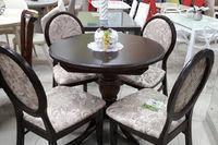 Стол Анжелика обеденный раскладной деревянный 90(+38)*90 венге
