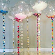 Декор, гирлянды, подвески и шарики на день Влюблённых и романтик!