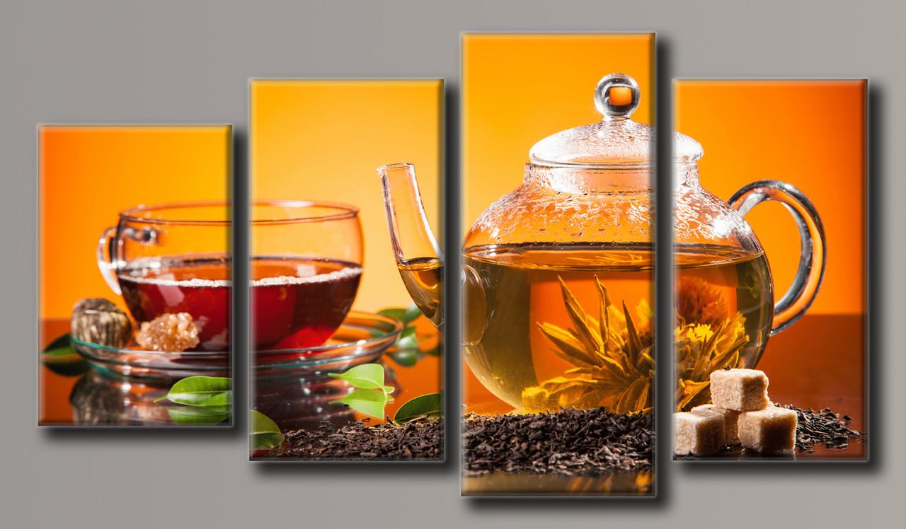 "Модульная картина на холсте ""Чай 3"""