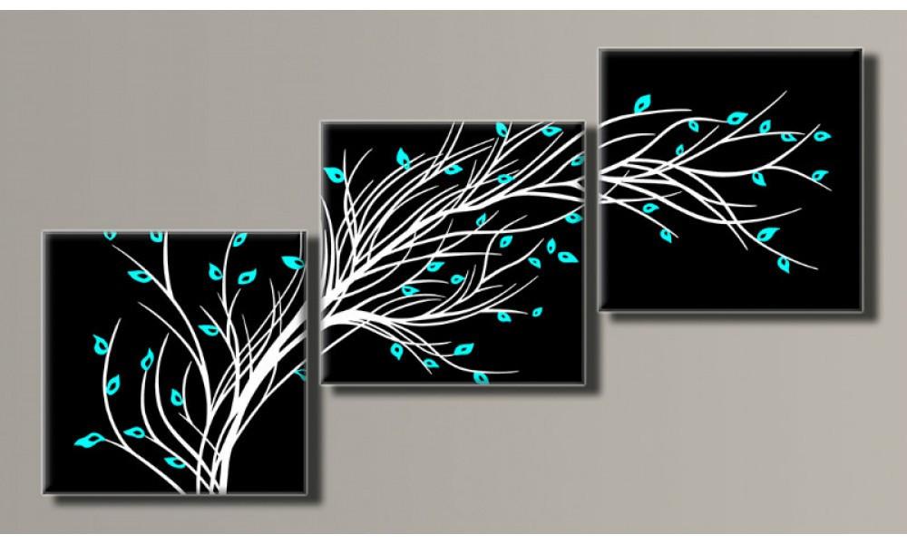 """Модульная картина на холсте """"Стильное дерево 2"""" для интерьера"""