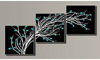 """Модульная картина на холсте """"Стильное дерево 2"""" для интерьера, фото 1"""