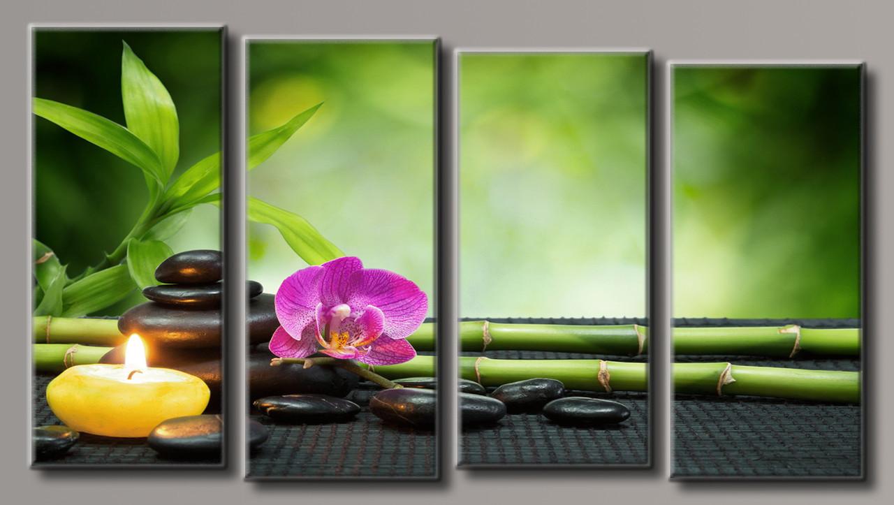 "Модульная картина на холсте ""Орхидея на камнях 6"""