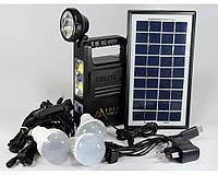 Комплект GD 8033 Cолнечеая панель, 3 лампочки