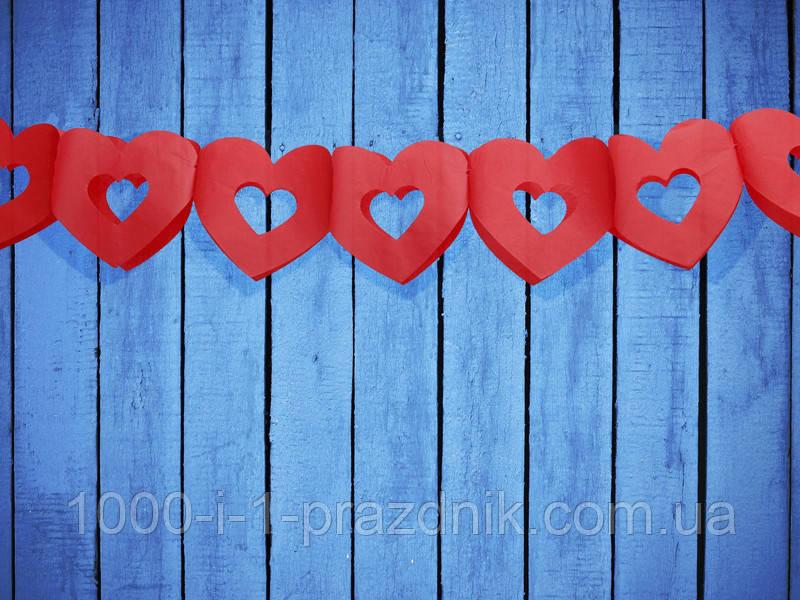 Растяжка сердца красные